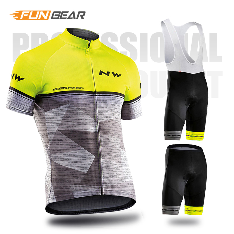 NW Pro Team Jersey Set Men Cycling Clothing Short Sleeve Clothes Biking Uniform Road Bike Summer Northwave Ropa Ciclismo Maillot