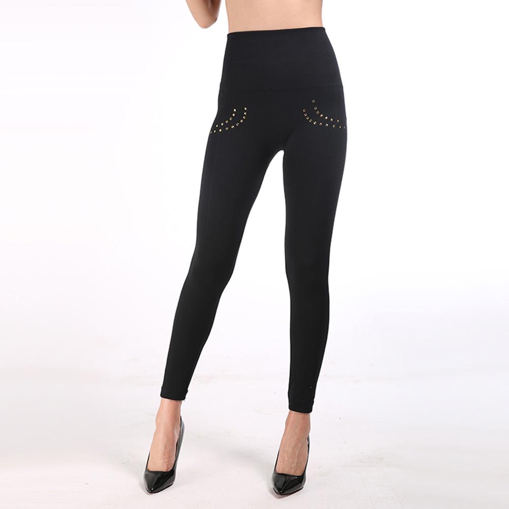 Bikitique Casual Black Leggings Women High Waist Legins Push Up Punk Leggings Sexy Button Or Zipper Vintage Lady Leggins