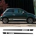 2Pcs Auto Lungo Adesivi Porta Laterale Per Fiat Punto 500 Panda Abarth Tipo FAI DA TE Auto Pellicola Del Vinile Decalcomanie Styling tuning auto Accessori