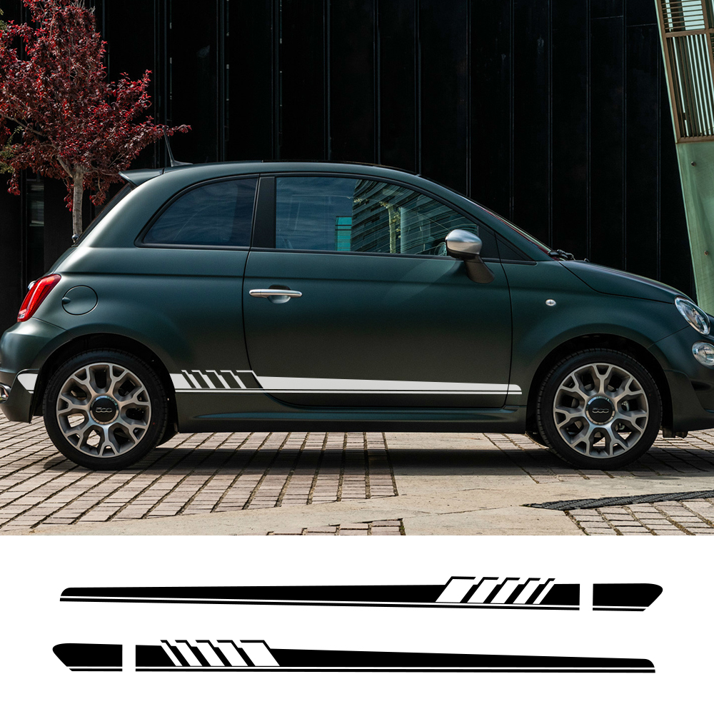 2Pcs Long Car Side Door Stickers For Fiat Punto 500 Panda Abarth Tipo DIY Auto Vinyl Film Decals Styling Car Tuning Accessories|Car Stickers|   - title=