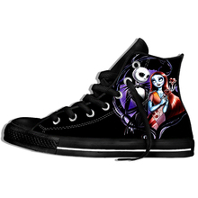 Halloween Sneakers Jack Skellington Men And Women Fashion Funny 3d Couple Print