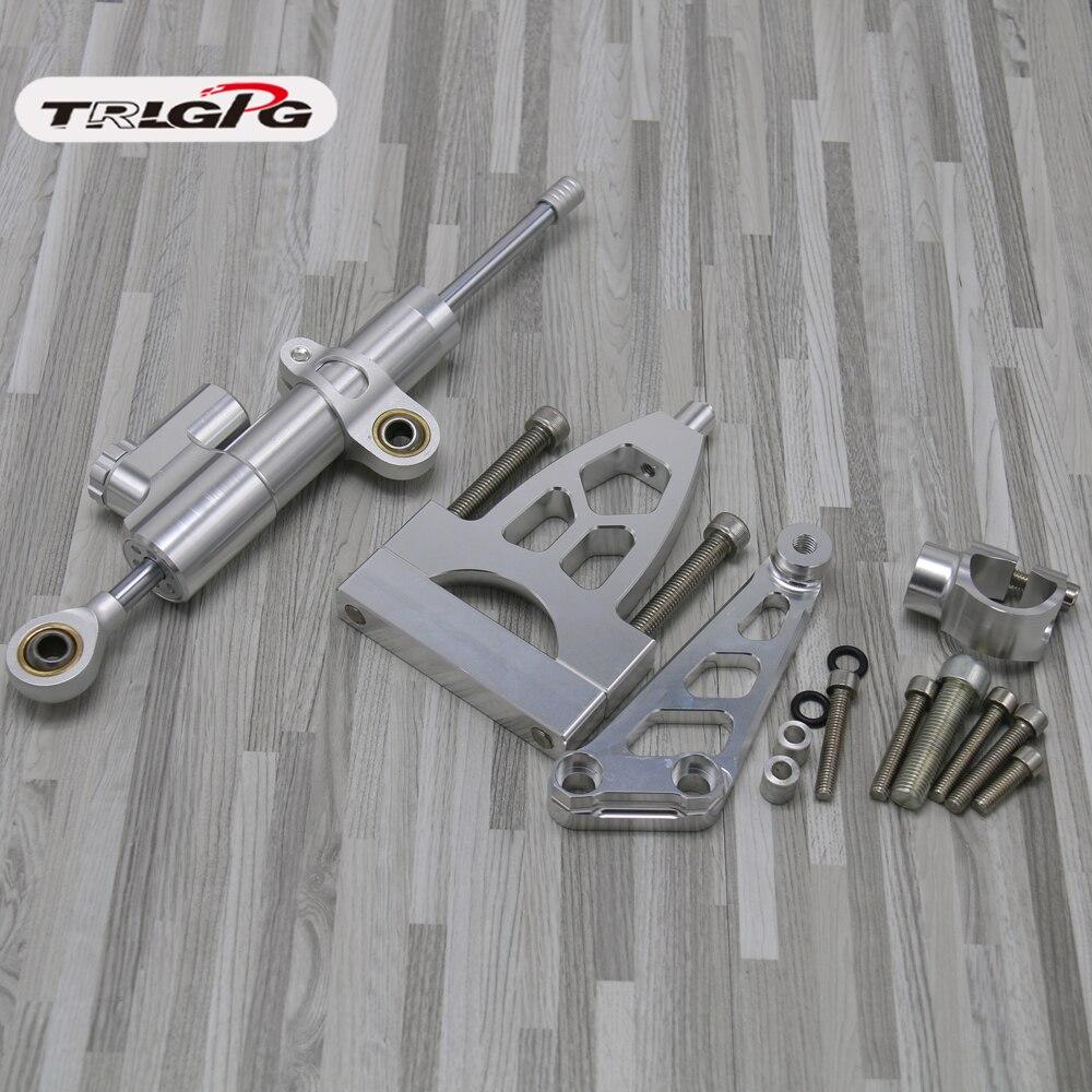 For Honda CB400 CB 400 VTEC 1999-2010 2000 2001 02 03 04 CNC Motorcycle Steering Damper Stabilize Bracket Mounting Kit Support