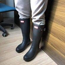 UVRCOS H T gumowe kalosze brytyjskie klasyczne wysokie rurki wodoodporne buty dla kobiet kalosze damskie kozaki damskie