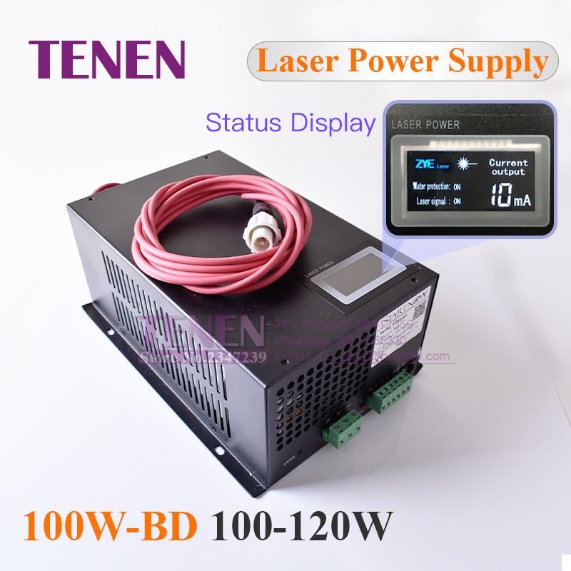 100W BD CO2 Laser Power Supply With Display Screen 100W MYJG 100 120W Co2 Laser Source