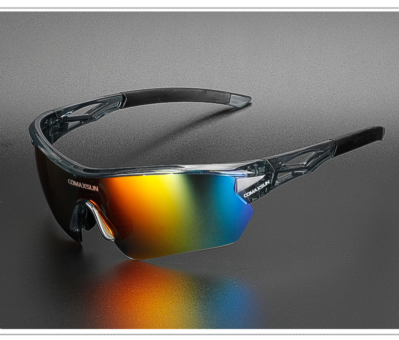 H79db232470d84dd687c37233a10523c0Q COMAXSUN Professional Polarized Cycling Glasses Bike Goggles Outdoor Sports Bicycle Sunglasses UV 400 With 5 Lens TR90 2 Style