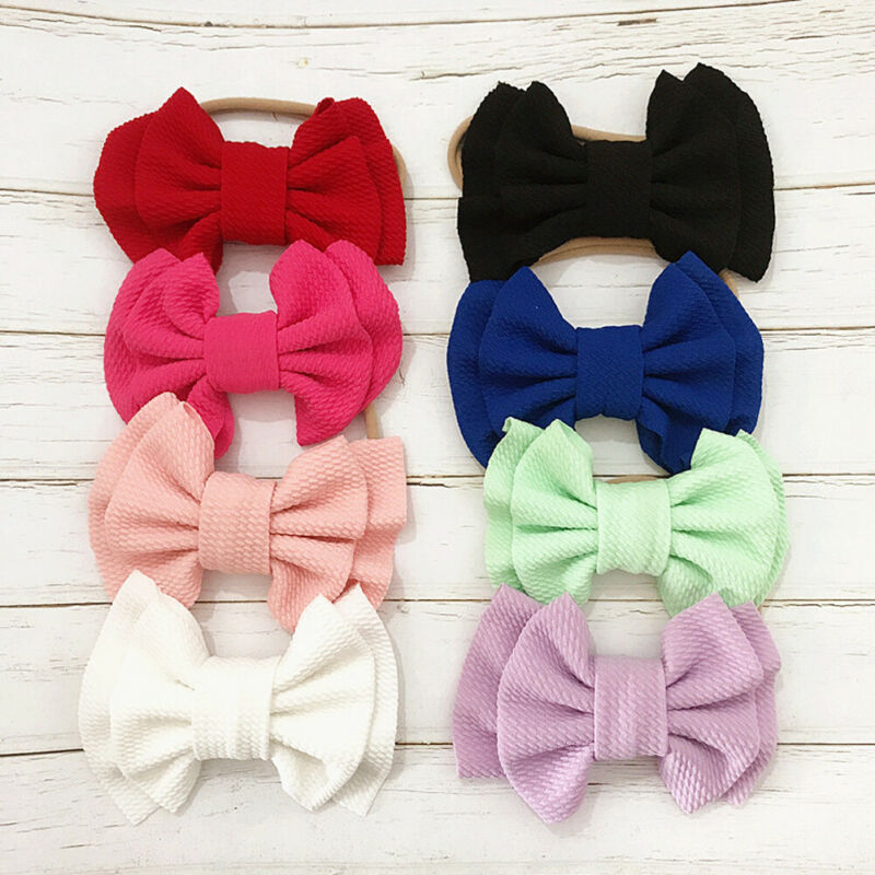 Emmababy Toddler Girl Baby Big Bow Hairband Kid Headband Stretch Knot Head Accessories