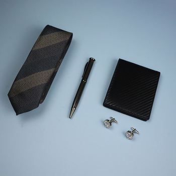 Luxury Gift Man Tie Sets mens ties with cufflink & pen & Wallet Gift Sets  noeud papillon bois  corbata hombre  men tie