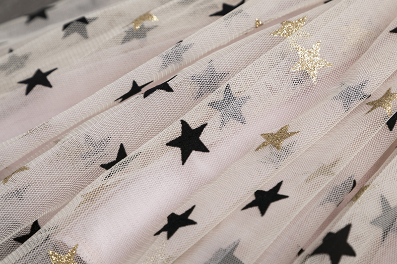 3 4 5 6 7 8 Year Girls Dress Summer Lace Sling Casual Dresses for Baby Girl Pentagram Pattern Clothes Birthday Party Dress 4