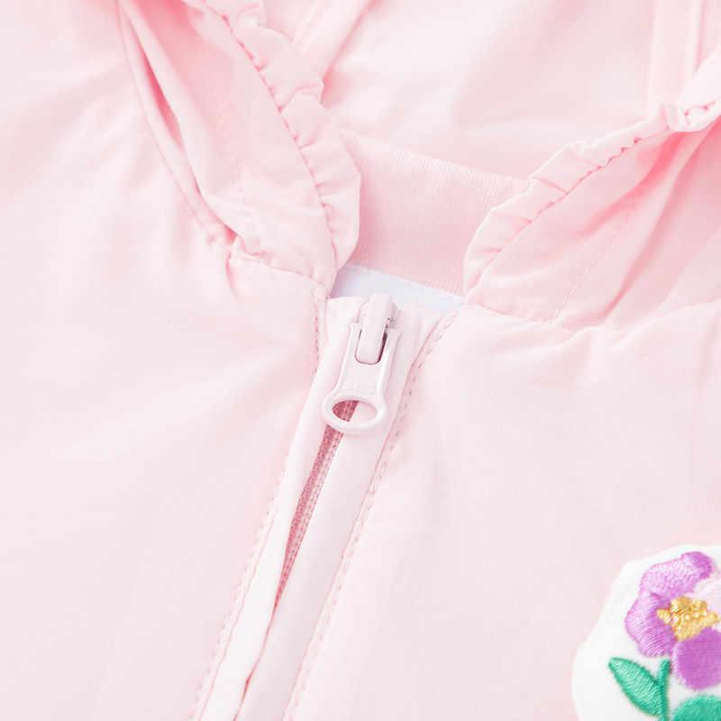 Balabala Mädchen Leichte Hut Mantel Baby Top Kinder Kleidung 2020 Frühling und Herbst Spitze Kapuze Mantel Mode Mädchen