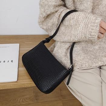 Messenger Handbags Retro Alligator Pattern Women shoulder bags   3