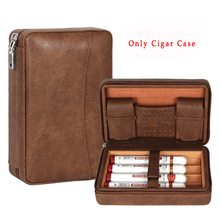 GALINER Cigar Humidor Case Leather Box Portable Accessories Cedar Wood With Inside Pocket Gift fit Cohiba