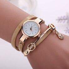 Women Golden Strap Quartz watch Wristwatch Bracelet Woman La