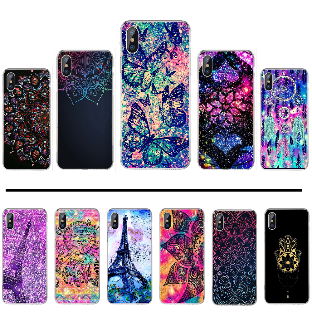 mandalas luxury Holder Relief Exotic Soft Silicone TPU Phone Cover For iphone 4 4s 5 5s 5c se 6 6s 7 8 plus x xs xr 11 pro max