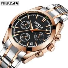 лучшая цена Relogio Masculino NIBOSI Mens Watches Top Brand Luxury Fashion Business Quartz Watch Men Sports Full Steel Waterproof  Men Watch
