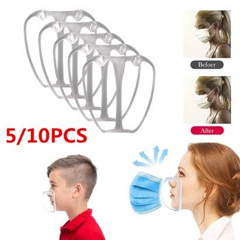 5 10 sztuk 3D maska uchwyt wielokrotnego użytku oddychające silikonowe usta maska stojak wsparcie nos zwiększyć przestrzeni do oddychania płynnie maska uchwyt na tanie i dobre opinie SILICONE