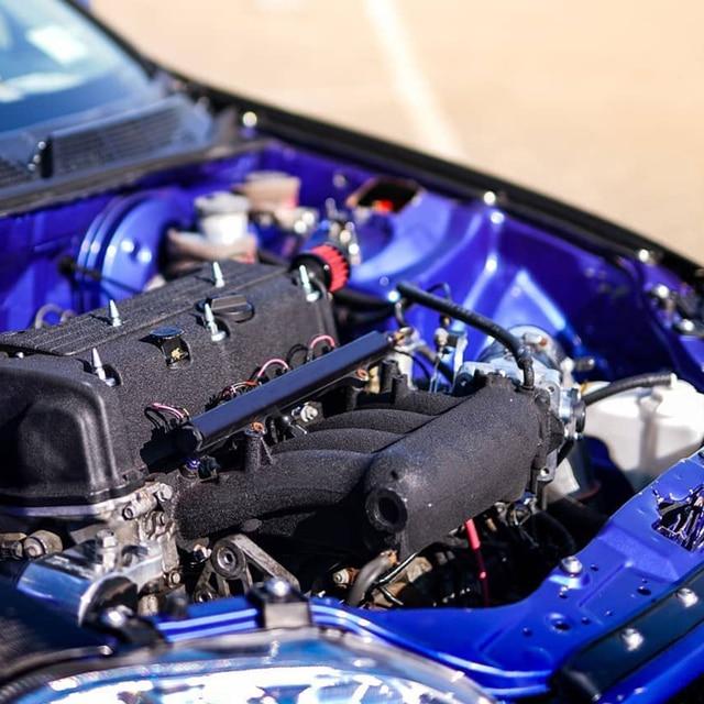 Aluminium K Series Heavy Fuel Rail Kit High Flow Injection Fuel Rail For Honda K20 K24 RSX Civic Si ,Integra EP3 With Oil Gauge 6