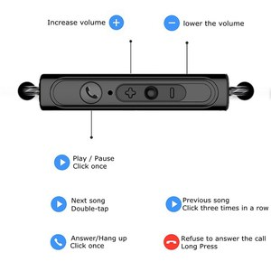 Image 2 - 1.2M Remote Control Original Earphone Stereo Earbuds for Samsung iphone for Xiaomi Huawei OPPO VIVO Wired Sports Music Headset