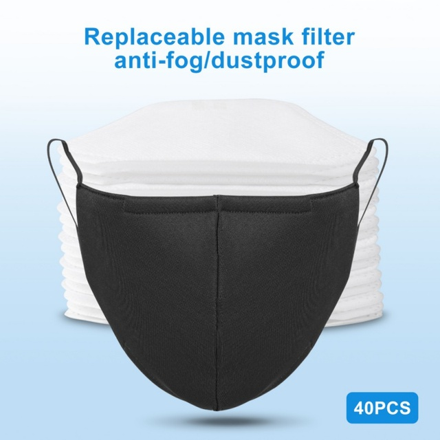 Non-woven PM2.5 mouth Mask anti dust mask Activated carbon filter Windproof Mouth-muffle bacteria proof Flu Face masks 1