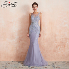 SERMENT Luxury Long Mermaid Evening Dress Suitable for All High-end Special Occasions Large Grain Diamond Pearl Decoration