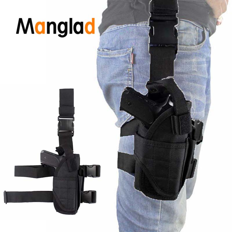 Adjustabl Pistol Drop Leg Thigh Holster For Gun Right Hand Universal Military Tactical Outdoor Pouch Suit All Pistols Waist Bag