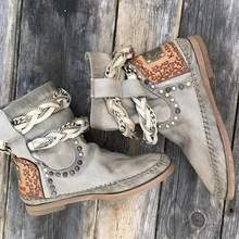 Buy 2019 Women Fashion Ankle Boots Casual Pu Leather Ankle Shoes Female Winter Warm Vintage Mujer Botas Low Heel Patchwork Boots directly from merchant!