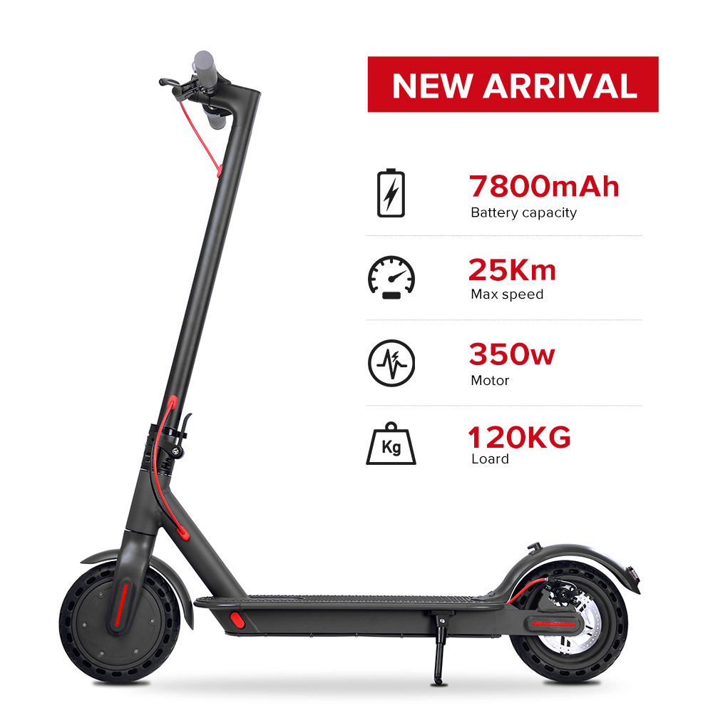 USA STOCK 8.5 Inch <font><b>Electric</b></font> <font><b>Scooter</b></font> Smart Bluetooth <font><b>Scooter</b></font> Adult Folding <font><b>Electric</b></font> <font><b>Scooter</b></font> 350 W <font><b>Motor</b></font> 7800MAh Skateboard image
