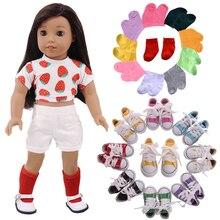 Резина подошва повседневный холст 7,5 см обувь% 2CНоски для 18 дюймов американский +% 26 43 см ReBorn ребенок кукла одежда +% 261% 2F3 Bjd девочка игрушка% 2CGeneration