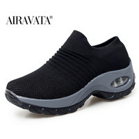 Black-Women's walking shoes Fashion Casual Sport Shoes Platform Sneakers