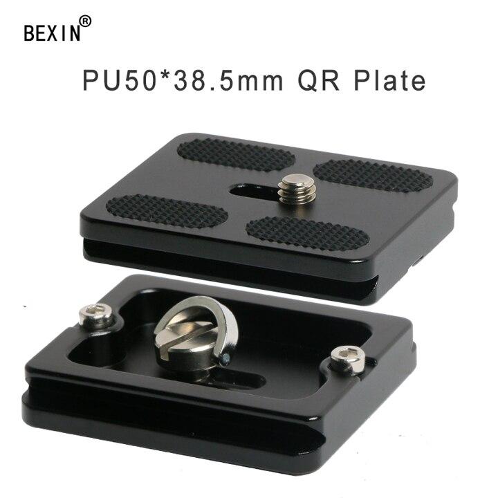BEXIN, длинный штатив для камеры, быстросъемная пластина, быстросъемный кронштейн, крепление для камеры, пластина для dslr камеры, штатив с 1/4 винтом - Цвет: pu50x38.5mm