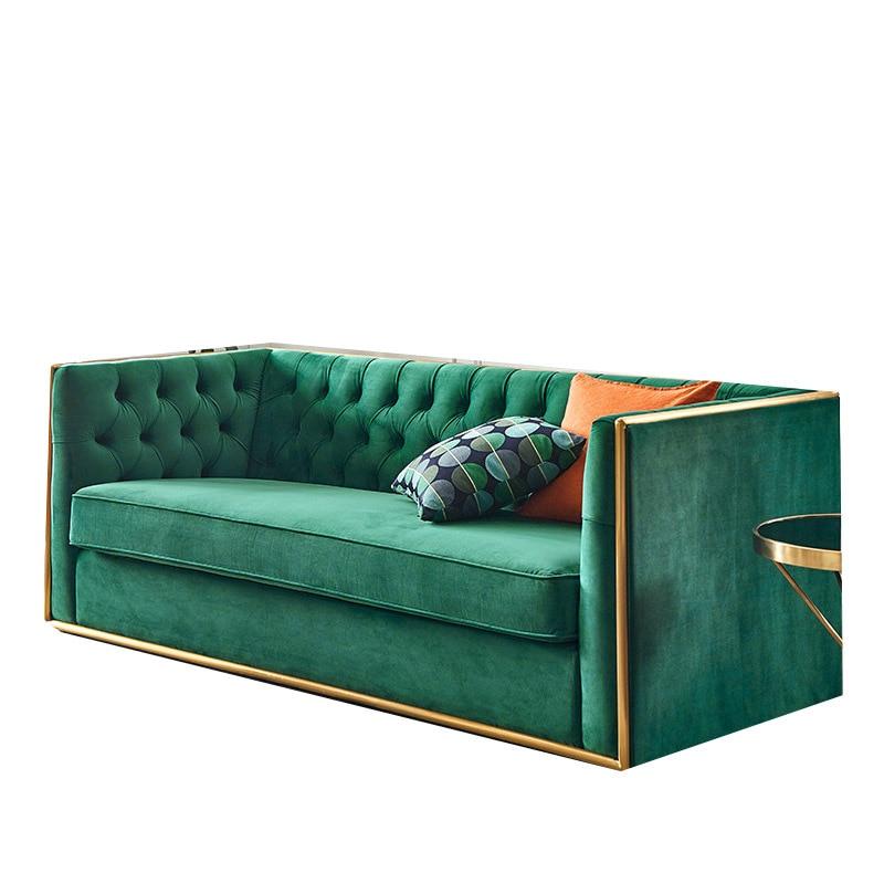 Galleria fotografica Italiano minimalista Nordic divano in tessuto In Lattice tessuto verso il basso divano combinazione