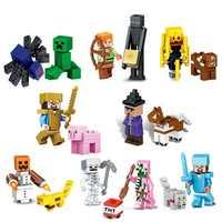 The Diamond Steve Ghast Zombie Slime Minifigs Building Block Action Figure Compatible Lepining MinecraftINGlys Bricks Set Toys