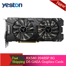 Yeston RX580 2048SP 8G D5 GAEA Graphics Cards Radeon Chill Polaris 20 Dual Fan Cooling 8GB Memory GDDR5 256bit DP*3/HD/DVI D