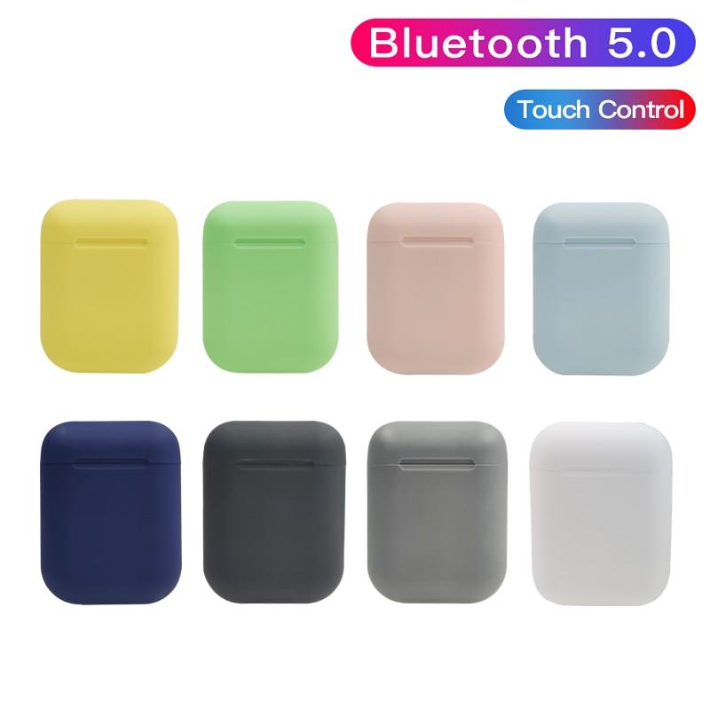 Bluetooth écouteur Macaron 12 5.0 HIFI sans fil casque sans fil Bluetooth écouteurs pour tous les téléphones intelligents Sport écouteurs casque