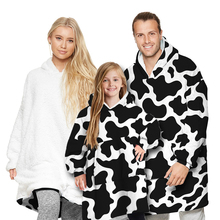 Blanket Clothing Pullovers Plush Parent-Child Women Home Outfit One-Size Tracksuit Hoodie