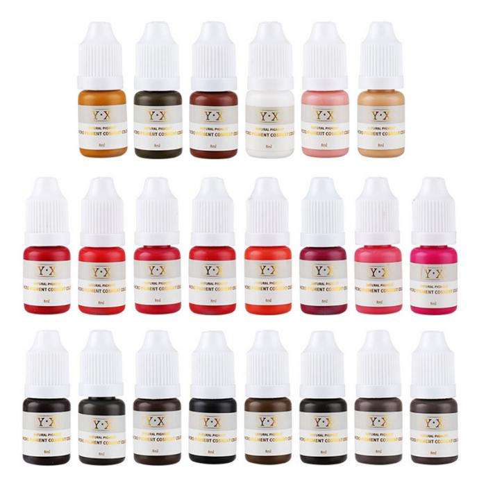 22 Colors Plant Tattoo Ink Pigment For Semi-permanent Eyebrow Eyeliner Lip Paint Microblading Pigment Eyebrow Tattoo Color Inks