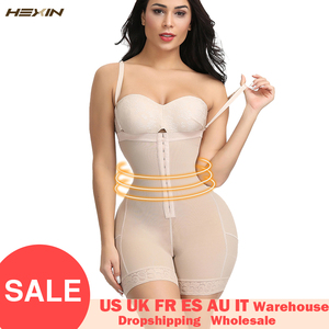 Image 1 - Hexin プラスサイズ女性フルボディニッパー痩身 mid 太ももシェイパー fajastummy コントロールシームレス産後ボディガードル