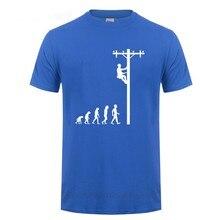 T-Shirt manches courtes col rond homme, humoristique, en coton, cadeau d'anniversaire pour électricien Papa Papa Papa mari