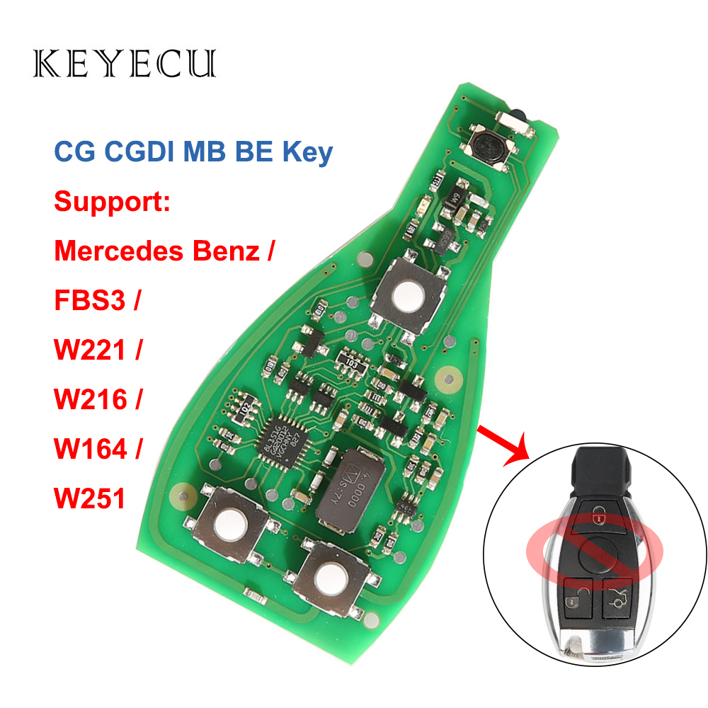 Keyecu CG CGDI MB BE Key pro 315 MHZ/433 MHZ dla CGDI MB 3 przyciski dla Benz dla W221 W216 W164 W251 (bez inteligentny klucz Shell)