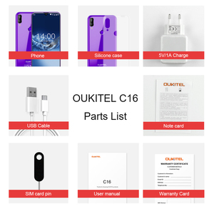 Image 5 - هاتف ذكي OUKITEL C16 بشاشة 5.71 بوصة عالية الوضوح + 19:9 مع خاصية قطرة الماء وبصمة الإصبع يعمل بنظام الأندرويد 9.0 وذاكرة وصول عشوائي 2 جيجا وذاكرة قراءة فقط 16 جيجا وذاكرة قراءة فقط 2600mAh مع خاصية فتح القفل
