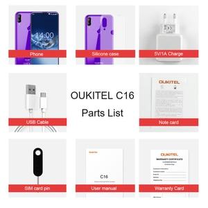 "Image 5 - OUKITEL C16 5.71"" HD+ 19:9 WaterDrop Smartphone Fingerprint Android 9.0 Mobile Phone MT6580P 2G RAM 16G ROM 2600mAh Unlock"
