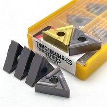 TNMG160404R TNMG160404L-ES VP15TF UE6020 Hohe Qualität Hartmetall Einsätze Externe Drehen Werkzeuge Metall TNMG 160404R Drehen Werkzeuge