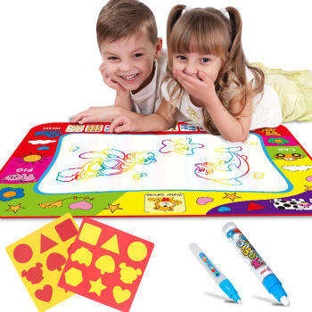Magic Water Drawing Mat 80*60CM Water Drawing Digital Toys Doodle Mat Letter Painting Board Educational Toy For Kids 80x60cm water drawing mat
