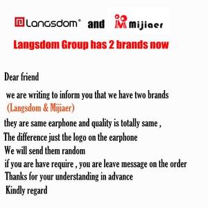 Image 2 - Original Langsdom JM21 JM26 EG5 Earphones with Microphone Super Bass Earphone Headset For iphone xiaomi earphone for Smartphone