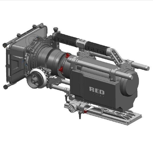Nuevo Kit de cámara Tilta Pro Cage Enfoque de seguimiento único + 4*4 caja mate + funda para rojo una cámara de MX envío gratis