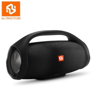 CrazyCube Boom Box Mini Wireless Portable Bass Passive Speaker with Rubber Surround Fm radio 10W loudspeaker for jbl iphone