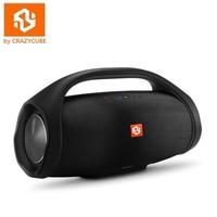 CrazyCube Boom Box Mini Wireless Portable Bass Passive Speaker with Rubber Surround Fm radio 10W loudspeaker for jbl iphone