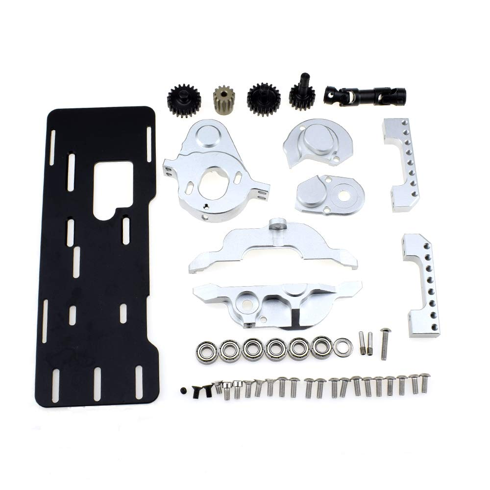 Aluminum Alloy Motor Mounting and Radiator Kit for 1/10 RC Tracked Traxxas TRX-4 Defender TRX4 Bronco