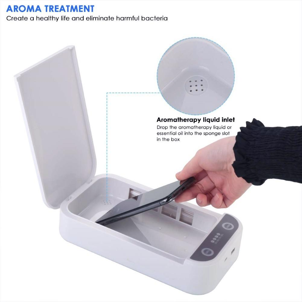 UV Ultraviolet Sterilizer Phone Sterilizer Box Jewelry Phones Mask Cleaner Multifunctional Personal Sanitizer Disinfection Box