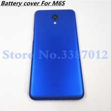 Originele Metal 5.7 Inch Voor Meizu M6s S6 Mblu Meilan S6 Terug Behuizing Batterij Cover Case Deur Achter + Camera lens