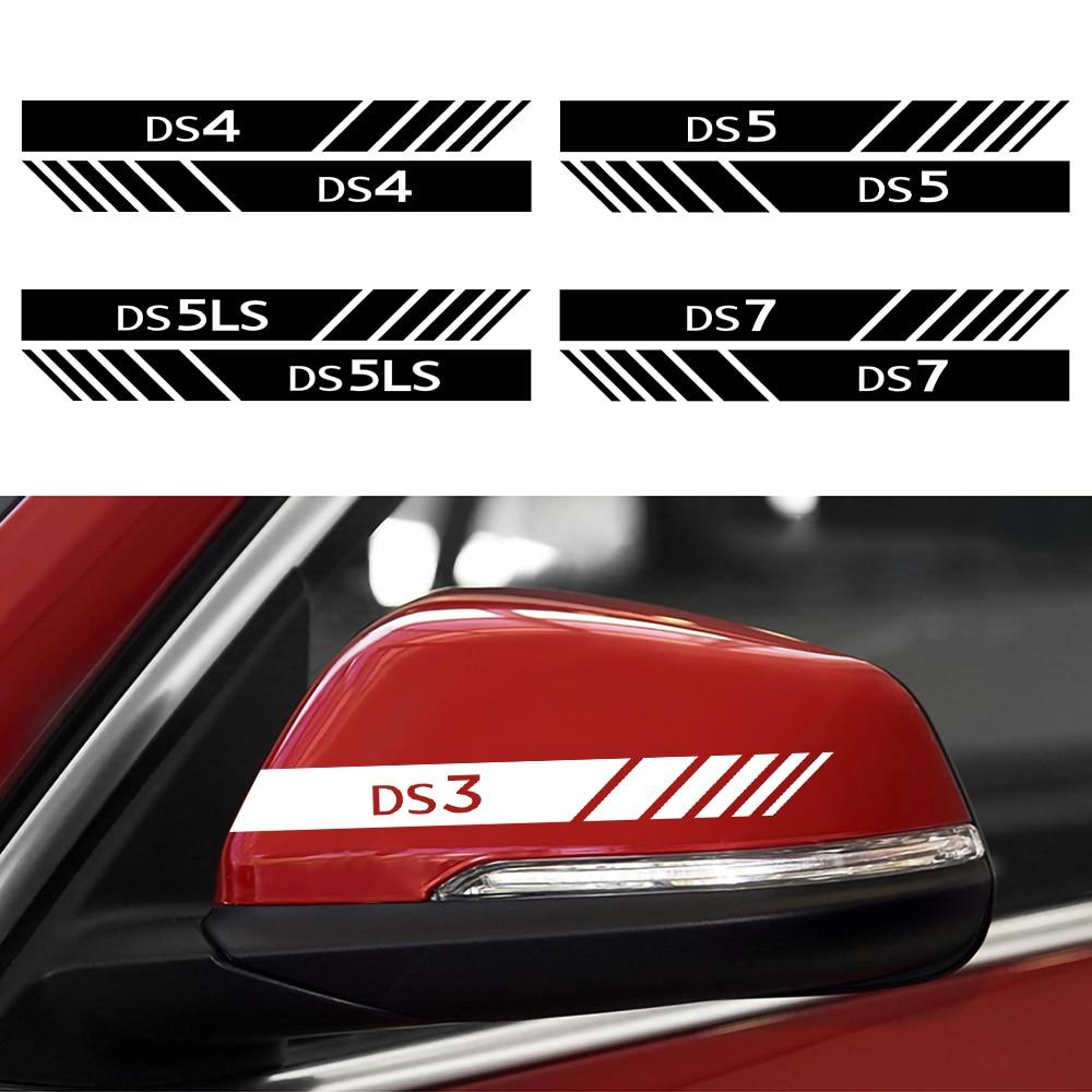 Para citroen ds ds3 ds4 ds5 ds 5ls ds7 2 pçs carro reflexivo adesivos retrovisor espelho lateral estilo decalques decorativos acessórios